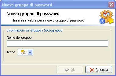 Creazione e modifica gruppo di password - Password Manager